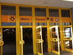 4日目朝、6:30に4泊したプラハのホステルをチェックアウトし、地下鉄でフローレンツ駅に来ました。