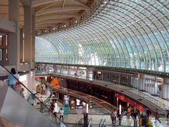 """巨大なショッピングセンター、""""ショップス・アット・マリーナベイサンズ""""の端っこにある、"""