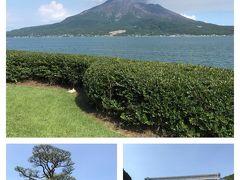 仙厳園です。 きれいな桜島が見えました。
