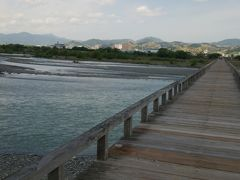 さてと~。世界最長の、木造歩道橋である蓬莱橋にきましたよ~