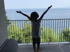 初島を望む絶景に満足な娘