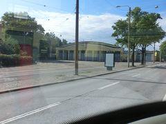 Hauhon puistoトラム乗り場前の、トラム操車場