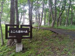 ホテルから徒歩数分のところにある「ところ遺跡の森」へお散歩
