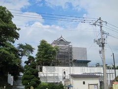 13:20 「上山城」 工事中でした。
