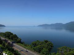 天気に恵まれ空も琵琶湖も青い