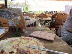 タルトフランベの昼食
