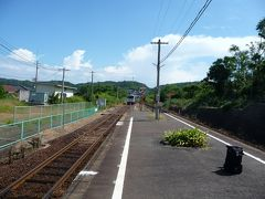 途中で、出雲市行の列車を降りました。 ありがとぉ~!