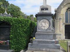 IPP常子さんの車でヒーツィング墓地に移動。 クーデンホーフ光子が眠っているお墓。