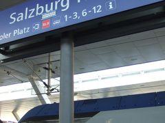 あっという間にザルツブルク中央駅に到着! レール工事中でミュンヘン・オスト駅以降の数駅すっとばしたから、順調に進んでたらICと同じくらいの乗車時間で着いたはず。途中駅で、時間調整してたから予定より到着が遅れたけど。 メリディアンはミュンヘンへ引き返すようです。即表示が変わった。