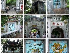 ホアンキエム湖の方に戻って来て、玉山祠に向かいました。  Wikipediaによると、 ここは13世紀の元に対する戦いで活躍した陳興道、文昌帝 、 1864年に寺の修理を担当した儒者者で作家の阮文超らを 祭っているとの事です。