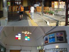 川跡駅からは終点の出雲大社前駅まで。   この駅舎は近代化産業遺産に指定されているんだってね。