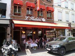 レストラン街のお店のメニューを見比べ、こちらのリュイトリエールに入ることに決定!