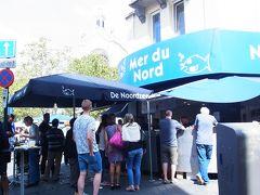 目的地は証券取引所から5分くらい歩いた場所  ブリュッセルで有名なシーフード店 Mer du Nord