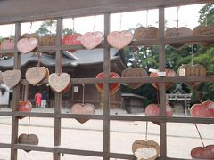 松江神社  興雲閣のお隣りの神社、、 絵馬はハート形です♪