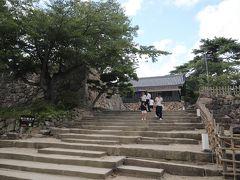 松江神社の横にある石段を上って行くと、、  天守閣です、、