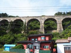 函館方面に進んでいくと旧戸井線アーチ橋があります 汐首地区だけなのかと思ったら他にもあるようなので 次回来た時に探してみようと思います