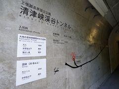 新潟から北陸道、関越道を走ります。塩沢石打インターで高速を降り、一山越えて清津峡へ。清津峡谷渓谷トンネルは芸術祭の会場となっています。作品はMADアーキテクツによる「ライトケーブ」。