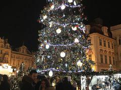 オールドタウン・スクエア  広場の中央にここにもクリスマスツリー。
