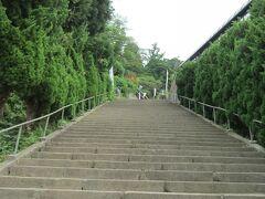さ。あかべこも作ったし、次のリベンジ。  飯盛山。  いかん、、また階段だ笑