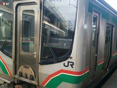 今度は、郡山駅で東北本線福島行きに乗車します。待ち時間が20分位ありトイレとドリンクをかいます。