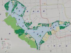 次に向かったのは、琵琶湖の三倍の面接を誇る「太湖」散策 とのことですが、大きな湖は、この地図の左側に広がっているそうです。 位置情報は、近くのポイントにしています。