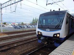 これから乗車するリゾートしらかみ6号 弘前発秋田行き。 車両は新・青池編成。この車両には数年前に乗車した覚えが。
