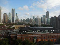 7日目。最終日は良い天気でした。 部屋の窓からの風景。