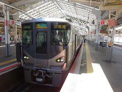 ここから乗るのは、日根野行きの区間快速。 快速電車は環状線から直通してくるが、区間快速は天王寺始発。