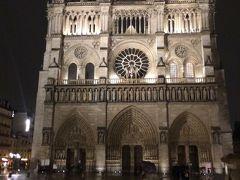 ☆ノートルダム寺院☆  ノートルダム大聖堂 はゴシック建築を代表する建物であり、フランス、パリのシテ島にあるローマ・カトリック教会の大聖堂。  「パリのセーヌ河岸」という名称で、周辺の文化遺産とともに1991年にユネスコの世界遺産に登録された。  ここで今日の観光は終了。よく歩きました。