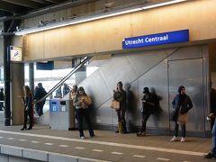 15:05 Utrecht Centraal(ユトレヒト中央駅)に到着。