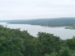 サルボ展望台より塘路湖を見下ろす