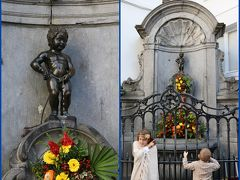 小便小僧ことジュリアン君、はじめまして♪  本物の小便小僧(?)が手すりにつかまって 銅像の小便小僧を見つめていま~す(笑)