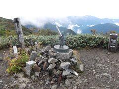駒ヶ岳山頂 強風でした