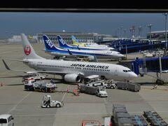 今回も中部セントレア空港からの出発です。 JALさんの機体メインのお写真ですが、今回もいつも通りANAを利用。