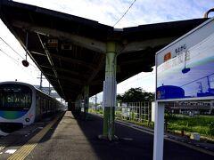 西武池袋線の朝の元加治駅にやって来ました 連日続いた酷暑もここにきてようやく和らいできましたねw