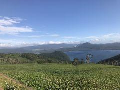 10泊の予定が関空閉鎖の為、3泊延泊して空港への道 藻琴山展望公園からの屈斜路湖