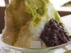 枝豆かき氷。枝豆を使ってるのは東北っぽい