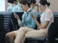 大韓航空のキャビンアテンダント  皆さんスタイル抜群でした。