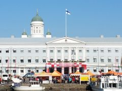 市庁舎 メトロの通りに面しています。  後ろがヘルシンキ大聖堂