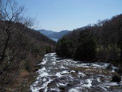竜頭の滝から望む中禅寺湖