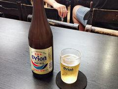 そして沖縄最後の食事で空港食堂へ  沖縄での最後のオリオンビール!