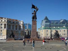 ウラジオストク市内散策(中央広場、ディナモスタジアム、アムール湾ほか)