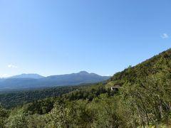 大樹林帯を見渡せる三国峠で「消滅集落」の話を聞きました。ここ上士幌町の2015年国勢調査で、人口0人になった消滅集落が7個所もあるそうです。時代の転換期を肌で感じました。