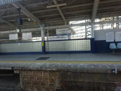 鳥取ノ荘(とっとりのしょう)駅。 写真に撮っていなかったが、この1つ手前の尾崎駅が、この4日後に全焼してしまった。
