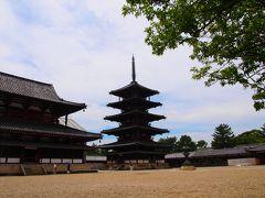 中央に写っているのが五重塔。 日本最古の塔なんです。 こんな古いものをこれだけ美しい状態でこの時代に見るとこが出来ることに本当に感謝です。 沢山の方々の手によってずっと大切に守られてきたんですね。