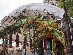 スリ・ヴィラマカリアマン寺院  バナナの葉っぱが凄い