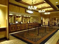 《17:55》フロントデスク  1泊目は初めての 「テキサス ステーション ギャンブリング ホール アンド ホテル(Texas Station Gambling Hall and Hotel)」です。  住所:2101 Texas Star Lane, North Las Vegas, NV 89032 https://texasstation.sclv.com/