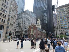 旧マサチューセッツ州会議事堂  フリーダムトレイル No.9   1713年建造 ボストン最古の公共建造物  現在は中は独立戦争の歴史を展示した博物館