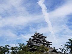 松江城に出ていた雲。 地震雲かもしれないと心配していた。