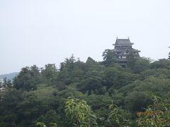 明々庵から望む、松江城。